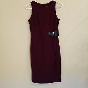 Plum purple sleeveless dress 2